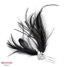ON AURA TOUT VU Moulin Rouge - Feather Comb Hairpiece $115