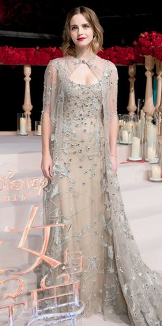 Emma Watson Is Really Leaning Into This Whole Princess Thing—and We're Not Mad About It - In Elie Saab Haute Couture from InStyle.com