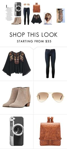 """""""veige"""" by risosnuri on Polyvore featuring moda, MANGO, Frame Denim, Golden Goose, Ray-Ban, Casetify y bts"""