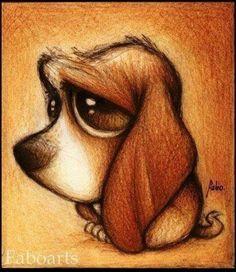 Söt hund-illustration.