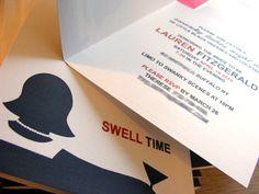 Mad Men typography - digitally printed invite.