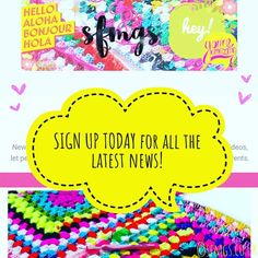 Happy Friday!  Something new...and newsy...today! Eek... you can now sign up to the SFMGS Newsletter!  Click the link in my profile to sign up for the latest free crochet patterns SFMGS news blog posts and more fun stuff direct to your inbox! I won't be spammy and will never pass your details on... it's just a fun new way to keep in touch with you gorgeous ones  big love