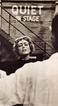 """JOAN CRAWFORD """"Photographer Sanford Ross, shooting for Collier's, persuaded her to let him record her in action"""" TORCH SONG studio rehearsal hall. photo (detail) by Sanford Roth. Colliers July 4 1953 (please follow minkshmink on pinterest) $joancrawford #torchsong"""