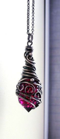 Wire wrapped pendant