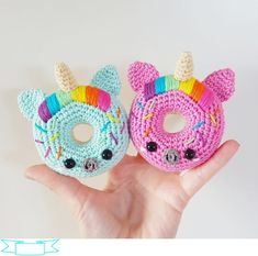 Unicorn Donuts Pattern | Crochet | Figured Fabrics