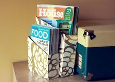 Diy dorm room crafts : DIY Magazine Holder Dorm Room Crafts, Home Crafts, Craft Rooms, Diy Magazine Holder, Diy Crafts For Adults, Adult Crafts, Diy Storage Shelves, Magazine Crafts, Craft Organization