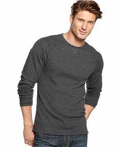 Club Room Shirt, Long-Sleeve Slub Raglan Thermal - T-Shirts - Men - Macy's