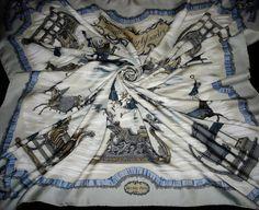 Hermes scarf Scarf Tuch 'SLEDS and slide' by HermesScarvesLuxury