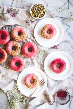 Strawberry Buttermilk Baked Donuts   lark & linen