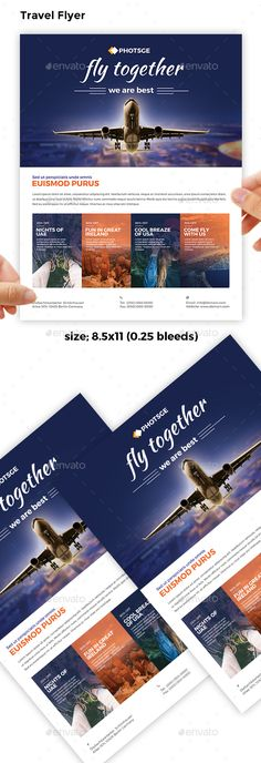 Travel Flyer, ad, agency, ai, america, asia, clean, europe, event, flyer, holiday, minimalist, modern, print, promo, simple, ticket, travel, trip, vacation