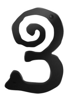 Atlas Homewares Scroll Address Number 3 Black Home Accents Address Numbers 3 Interior Design Living Room, Living Room Decor, Bedroom Decor, Address Numbers, Discount Curtains, House Numbers, Sustainable Design, Black House, Design Trends