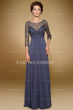 Empire Scoop Floor-length Chiffon Mother of the Bride Dress