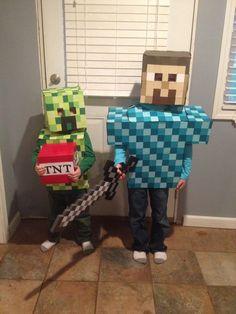 Minecraft costume surprise sinterklaas