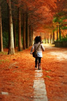 walking in the leaves