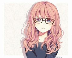 para que veas que las chicas con lentes también son kawaii