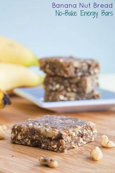 Banana Nut Bread No Bake Energy Bars