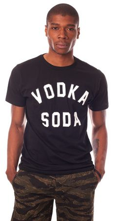 Vodka Soda Tee - Black