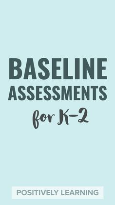 This is a set of back to school assessments for math and literacy! I use these data tracking pages  and activities during the first two weeks of school. From Positively Learning Blog #backtoschool #baseline #firstgrade