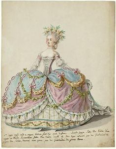Court dress in 1787, France