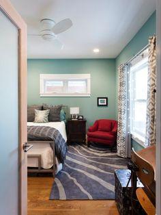 Gastzimmer Dekor, Gastzimmer, Wandfarben, Modernes Schlafzimmer, Plymouth,  Houzz, Seegrün
