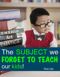 A Very important subject we aren't teaching children and HOW to teach it!
