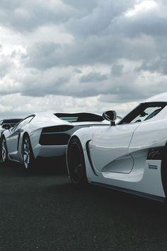 Koenigsegg Agera R and Lamborghini Aventador
