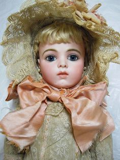 French Bisque Bebe Bru Jne, Size 7, by Leon Casimir Bru (1884)