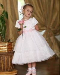 I like this flower girl dress, but the sash would need to be purple or lilac
