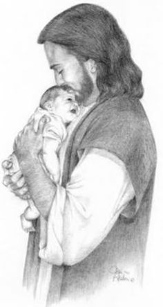 This is how I picture my sweet Hayes with Jesus every single day.