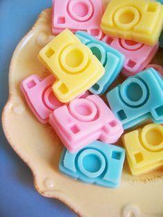Mini Cotton Candy Camera Soap Set. $6.00, via Etsy.