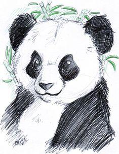 Keyshakitty on deviantart panda funny, animal drawings, pencil drawings, pencil art, art Cute Animal Drawings, Animal Sketches, Cute Drawings, Art Sketches, Pencil Drawings, Panda Drawing Easy, Panda Sketch, Panda Kawaii, Panda Painting