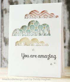 sequin shaker card by Debby Hughes