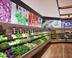 Bloom grocery produce close up th work in 2019 дизайн магазина, маркетинг, Fruit And Vegetable Storage, Vegetable Shop, Juice Bar Interior, Supermarket Design, Container Shop, Front Doors With Windows, Fruit Shop, Store Layout, Store Displays