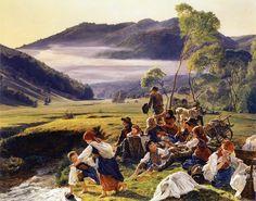 The pilgrims resting, 1859 - Ferdinand Georg Waldmüller