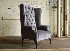 Awesome Black Velvet Wingback Chair