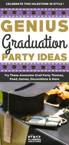 If you are feeling overwhelmed at the thought of planning your upcoming graduation party, not to fret! We've got some graduation party ideas to get you off to a great start! It's time to give your grad the day they have worked so hard for! Graduation Party Themes, Grad Parties, Birthday Parties, Party Games, Party Favors, Winter Parties, Feeling Overwhelmed, Christmas Themes, Party Planning