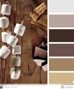"""LOVE the combination of warm tones and gray-browns! This is very close to the """"Franco"""" TYPOGRFX color scheme."""