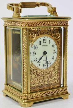 Stunning Antique Pierced Ormolu Bronze Mantel Carriage Clock Dimmer Of Paris Wow | eBay