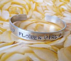 flower girl wedding bracelet personalized by SureToBeCharmed,