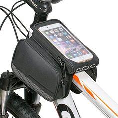 flypro impermeable para bicicleta Ciclismo tubo marco doble bolsa alforja para  manillar para iPhone teléfono móvil b4e7c5c26eb