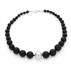 Onyx and pearl necklace Jan Logan