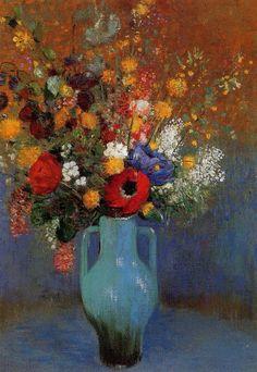 Odilon Redon「Bouquet of Wild Flowers」(1900)
