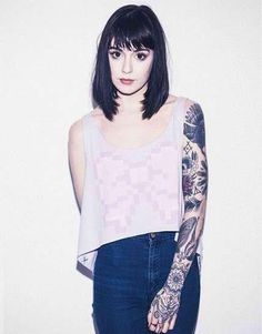 Hannah Snowdon has been a really big inspiration to me lately haha and not entirely because she's dating Oliver Sykes lol