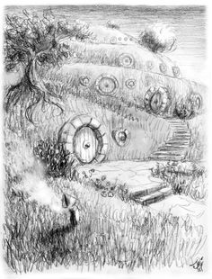 """""""In a whole in the ground, there lived a hobbit."""" I quite like this drawing. It's very well done. However, I don't know who drew it. So, if anyone does know, feel free to put it up here."""