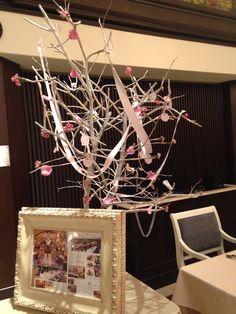 ウエディングディスプレイ〜ウィッシュツリー@シャンデリアテーブル wedding display〜wish tree〜@chandelier table