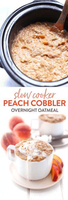 Breakfast Crockpot Recipes, Slow Cooker Breakfast, Oatmeal Recipes, Slow Cooker Recipes, Crockpot Meals, Cheap Clean Eating, Clean Eating Snacks, Slow Cooker Oats, Slow Cooker Porridge