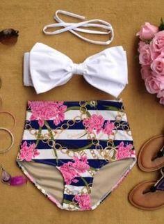Chained Ecstacy High Waist Bikini, Swimsuit, ...