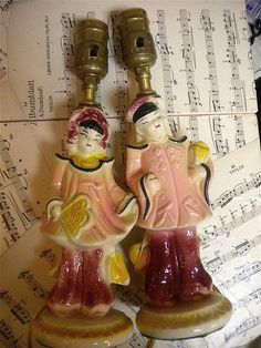 Chinese Figurines Made in Japan Chinese Figurines, One That Got Away, Remember The Time, Chinoiserie, Kitsch, Lamps, Japan, Antiques, Lightbulbs