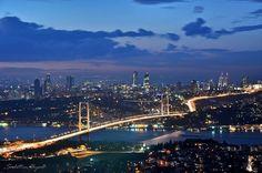 Panoramic Bosphorus Bridge - Istanbul by Sadettin Uysal Ver Series Online Gratis, Bosphorus Bridge, Sydney Harbour Bridge, Wonderful Places, San Francisco Skyline, Istanbul, World, City, Amazing
