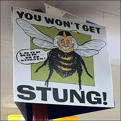 Shoppers sure are buzzing about this Ollie's Don't-Get-Stung Store Promise.The stinger-less Ollie-as-Bee caricature is an attention compeller. Retail Fixtures, Burts Bees, Caricature, Entrance, Branding, Humor, Store, Entryway, Brand Management